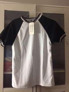 *BRAND NEW* Black Varsity V-neck shirt/top