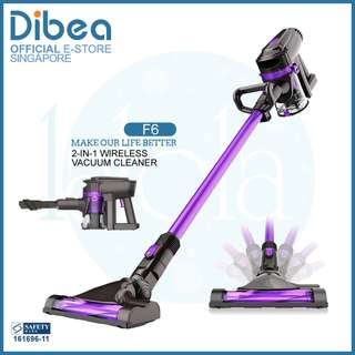 ✔FREE DELIVERY:  Dibea F6 Cordless Vacuum Cleaner 2 in 1★ Good for Pets , car , baby and new HDB bto or condo owners !