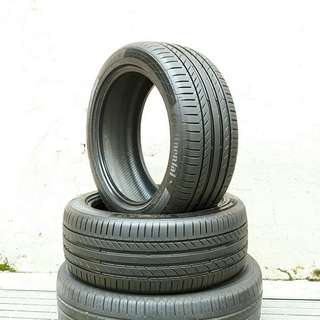Used 225/45 R17(Sold) Continental- Run Flat tyre (2pcs) 🙋♂️