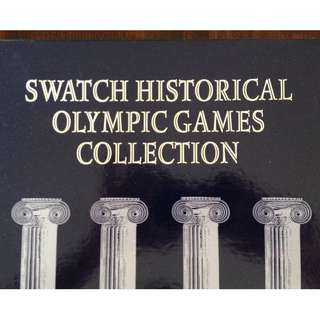 Mint condition Swatch Historical Olympic Games collection