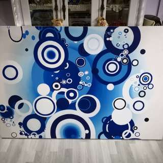 Abstract Canvas Painting ( Bulle Bleue)