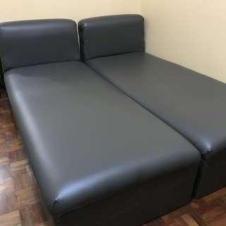 Leather Sofa / Bed Uratex