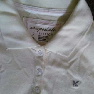 Pre-loved Aeropostale Stretch White Shirt Large
