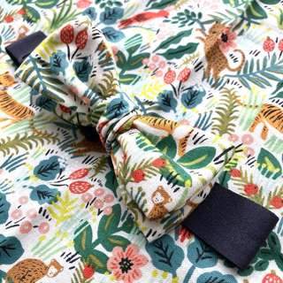 Jungle // Boys Hand Tied Bow Tie | Rifle Paper Co. fabric | Handmade | Tags: bowtie bow tie boy kids men fashion accessories
