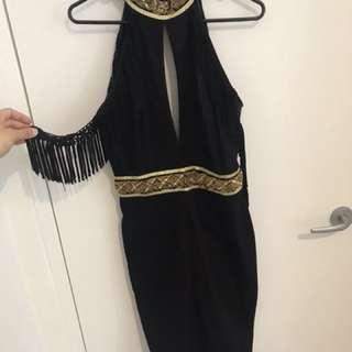Eliya the Label Demona Dress Black/gold Embellished dress size 10