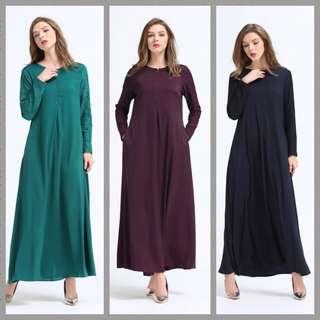 3For$75 Sale Muslimah Jubah Abaya Dress Nursing Friendly