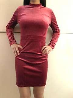 F21 Red Velvet Dress