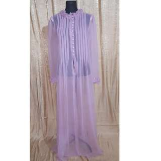 Full Length Victorian Sheer Nightgown