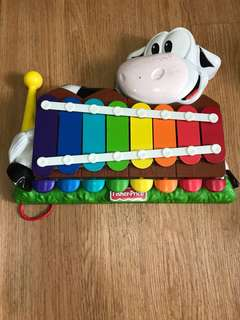 Fisher Price Xylophone/piano rainbow color
