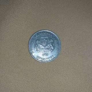 Uang 20 sen singapura tahun 1985