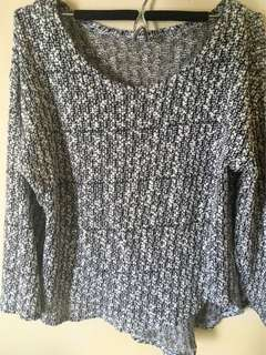 Knitted 3/4 top