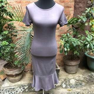 Grey Mermaid Long Dress
