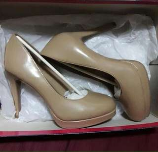 Fioni Nude Heels (from Payless)