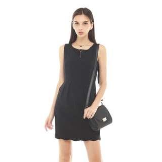 BN ACW Scallop Work Dress In black