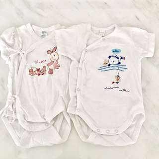(To Bless with purchase) Preloved baby girl clothes rompers (0 to 3 months)