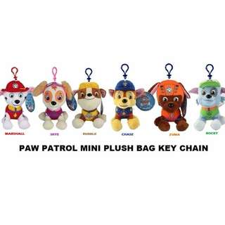 PAW PATROL MINI STUFFED PLUSH DOLL KEYCHAIN TOYS