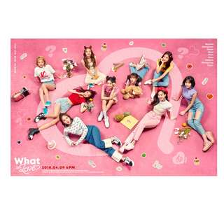 'TWICE / TWICE THE 5TH ALBUM<WHAT IS LOVE?>+limited poster