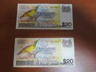 Bird Series 20 dollars