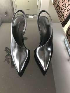 Alexander Wang Edie Asymmetrical Slingback Black Heels