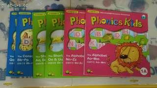 幼兒英語拼讀系列1 Phonics kids 1a1b2a2b3a3b