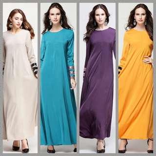 3for$75 Muslimah Sequin Jubah Dress Muslimah Abaya hijaber hijabi