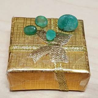 Emerald gemstones from Brazil