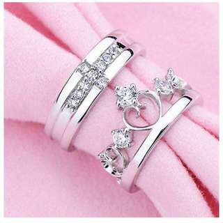 Couple Rings # Adjustable size # S925 Silver