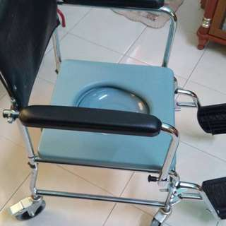 Mobile Commode Chair with backrest