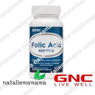 [美國直送] [現貨] GNC 葉酸 folic acid 400 mcg