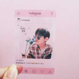 BTS Taehyung V transparent photocard