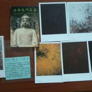 🚚 🈹洛陽龍門石窟 佛像明信片(全新未用)