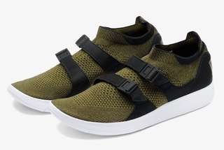 Like NEW! Nike Sock Racer Ultra Flyknit Olive Authentic