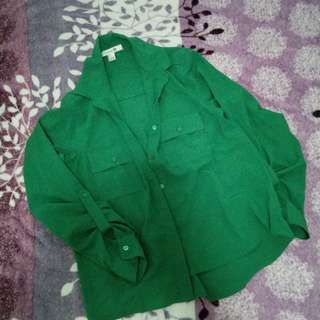 Green long sleeves polo