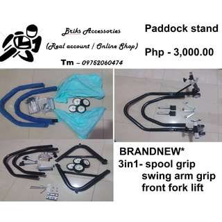 PADDOCK STAND 3IN1 FRONT AND BACK
