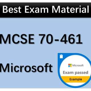 70-461 Exam Q&A PDF MCSE MCSA SQL Server 2012 Microsoft