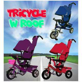 Tricycle with roof