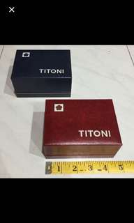 Original Vintage 60's Titoni Watch Display Box Unused Old Stock Assorted Colours