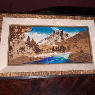 Antique wooden 3d artwork