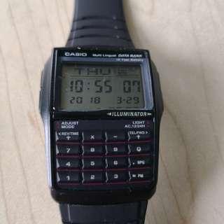 Casio databank calculator unisex black resin