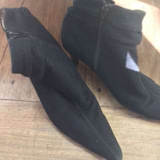 Esprit black suede boots