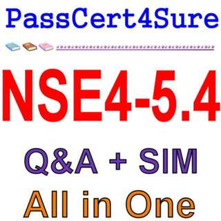 Fortinet Network Security Expert 4 Written FortiOS 5.4 NSE4-5.4 Exam Q&A+SIM