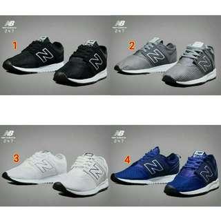 Sepatu new balance nb pria cowok original asli ori terbaru 2018 murah branded hitam putih biru abu