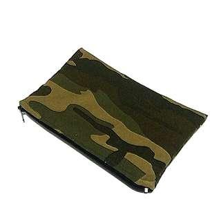 Army Camo Flat Zipper Pouch