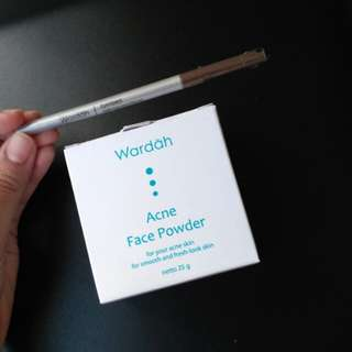 (New Take All!) Wardah Face Powder & Brow Pencil