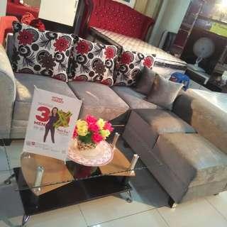 Sofa L + Meja bisa KREDIT TANPA DP