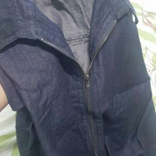 Authentic M)PHOSIS soft denim long sleeve dress bought in abroad nvr been worn fit to small to medium size medyo malaki sa small ung size nya khit small ung nakaindicate