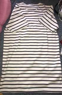Korea striped one-piece dress 裙