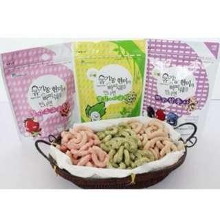 Organic Korean Baby Snack Patissier - 6 months (Sugar Free and Gluten Free)