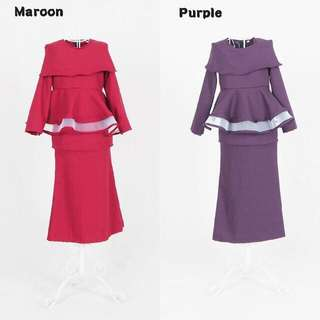 Size 8 10 12 Peplum Kurung baju raya budak 2018 jenifer kids girls clothing