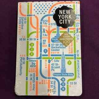 Travel notebook with Map - NEW YORK